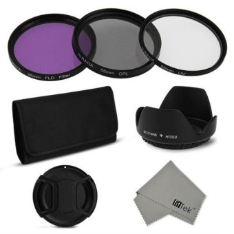 Generic 55mm Optical Glass Filter Accessories Kit (Black)