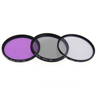Generic 67mm CPL FLD UV Optical Glass Filter Kit For Canon / Nikon 18-135mm Lens