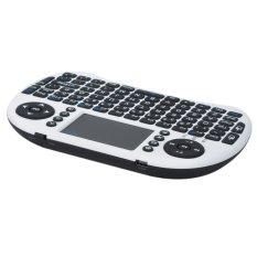 Genuine Rii Mini I8 Mini Wireless 92-Key QWERTY Keyboard Mouse Touchpad With USB Receiver