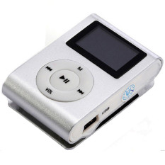 GETEK 32GB Micro SD TF Card FM Radio LCD Screen USB Mini Clip MP3 Player (White) (Intl)