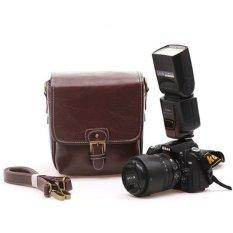 Ghope PU Leaher DSLR Camera Bag - Coffee