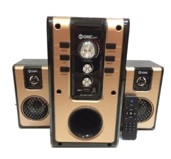 GMC 885T Speaker Multimedia 2.1 Bluetooth Connection - Gold