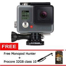 GoPro Hero LCD - 8 GB - Hitam + Gratis Monopod Fotopro + Memory Procore 32GB Class 10 GoPro