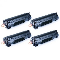 GREENCYCLE 4 PK CB435A 35A Black Laser Toner Cartridge Compatible for HP LaserJet P1006 P1005 -