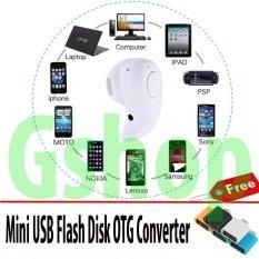 Gshop Headset Mini Wireless Bluetooth Stereo In-Ear Earphone Headphone Headset For Smart Phone Android & IOS + Otg Mini Usb 1Pcs