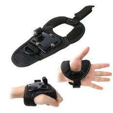 Hand Palms Wrist Belt Strap Band 360 Degree Rotatory W / Thumbscrew For GoPro Hero 4/3 + / 3/2 / 1 (Black)