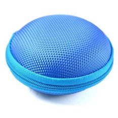 Hang-Qiao Carrying Hard Case Storage Bag Pouch For Headphone Earbud Earphone (Blue)