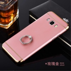 Hard 3 in 1 PC phone case PC With Metal Ring for SAM SUNG Galaxy J7 2016 / J710/Rose gold - intl