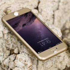 Hardcase Case 360 Iphone 6 / 6s Casing Full Body Cover - Gold + Free Tempered