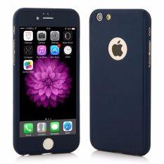 Hardcase Case 360 Iphone 6+/6 Plus Casing Full Body Cover - Biru Dongker