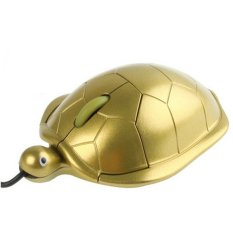 HAWEEL Turtle Style USB 3D Optical Mouse (Golden)