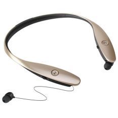 HBS900 Headphone Wireless Bluetooth V4.0 Neckband Sport Stereo Universal Earphone For Smartphone (Gold) - Intl