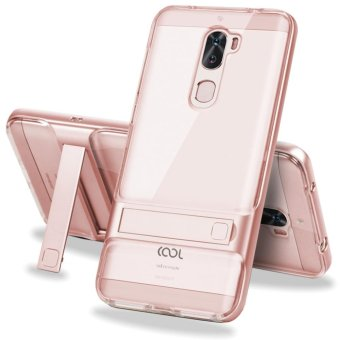 Hicase Dual Layer Hybrid Anti-Scratch TPU +PC Bumper Case For Letv Coolpad Cool1 Kickstand Protective Cover Rose Gold - intl
