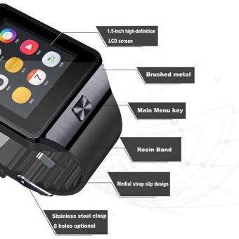 High Quality Brand New DZ09 Bluetooth Smart Wrist Watch Phone MateFor Android & IOS iPhone Samsung LG (Black)