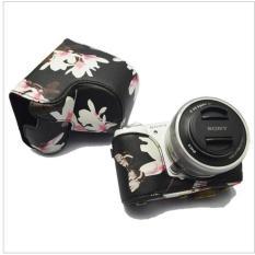 High Quality Micro Single Camera Bag For Sony A6000 Lightweight Camera Bag Case Cover For Sony A6000 / NEX-6 (16-50mm Lens) Camera (Black Pattern) - Intl