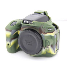 High Quality Silicone Camera Case Bag Cover For Nikon D5500 DsrlCamera (Army Green)