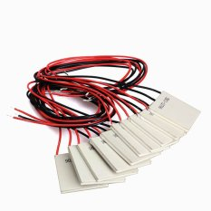 HKS 10Pcs TEC1-12706 Thermoelectric Cooler Heat Sink Cooling Peltier 12.5.8A (Intl)