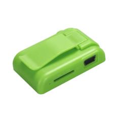 HKS 32GB Mini Clip Flower Pattern MP3 Player (Green) (Intl)