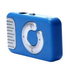 HKS 32GB Mini Clip Metal USB MP3 Player Support Micro SD TF Card Music Media (Blue) (Intl)