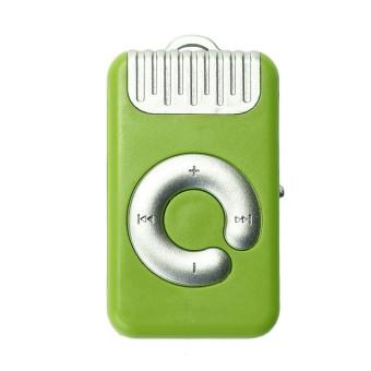HKS 32GB Mini Clip Metal USB MP3 Player Support Micro SD TF Card Music Media (Green)