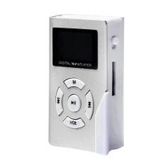 HKS 32GB Mini USB Clip MP3 Player LCD Screen Support Micro SD TF Card (Silver) (Intl)