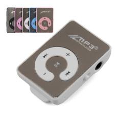 HKS GETEK 8GB Mini Mirror Clip USB Digital Mp3 Music Player SD TF Card (Pink) (Intl)