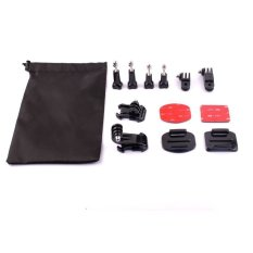 HKS Multi-functional Set Accessories For GoPro 4/3 + SJ4000 Camera - Black + Silver + Red (Intl)