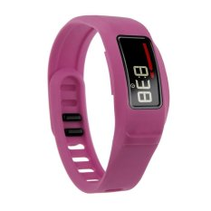 HKS New Replacement Silicone Strap Clasp Wrist Bracelet Band For Garmin Vivofit 2 Rose Red7# L