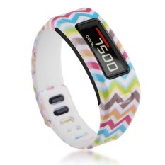 HKS TPU Replacement Wristband Band FOR Garmin Vivofit Bracelet With Clasp L S Size S Color Stripes