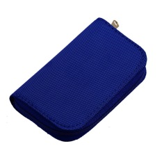 HKS YKS SD SDHC MMC CF Micro SD Memory Card Storage Carrying Pouch Case Holder Wallet (Blue) (Intl)