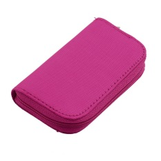 HKS YKS SD SDHC MMC CF Micro SD Memory Card Storage Carrying Pouch Case Holder Wallet (Red) (Intl)