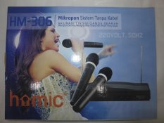 Homic Microphone / Mic Double Wireless HM-306