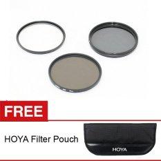 Hoya Filter Kit - UV + CPL + ND8x - 62mm + Gratis Hoya Filter Pouch