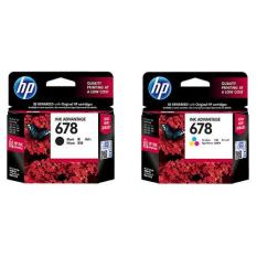 HP 678 Original Black & Color Ink Cartridge 1 Set - 2 Buah