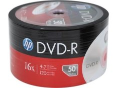 HP DVD-R Blank 16x 50keping - Multi Colour