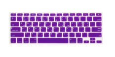 HRH Arabic Silicone Keyboard Cover Skin For Apple Macbook Pro Retina MAC 1.15 17 Air 13 (Purple)