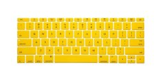 "HRH Fashion Silicone US Keyboard Cover Waterproof Protector Skin For Macbook Pro Air 12"" Inch (Yellow)"