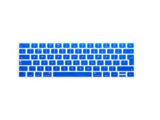 HRH Hot New English Silicone Keyboard Cover Protector Film Skin For Apple Magic Keyboard MLA22B / A EU Keyboard Layout (Blue)