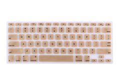 HRH Silicone Waterproof Keyboard Protector Cover Film For Apple Macbook Pro Retina 1.15 17 Air 13 Inch (Metallic Gold)