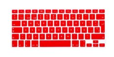 HRH Spanish Silicone EU Keyboard Cover Skin For Apple Macbook Pro Retina MAC 1.15 17 Air 13 (Red)
