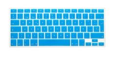 HRH Spanish Silicone EU Keyboard Cover Skin For Apple Macbook Pro Retina MAC 1.15 17 Air 13 (Turquoise)
