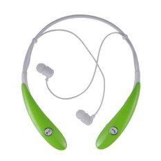 HV-900 Wireless Bluetooth Headset In-Ear Earbuds Earphone Headphone (Ultra Lightweight Neckband Design Plus Astonishing Sound Quality) Green - Intl