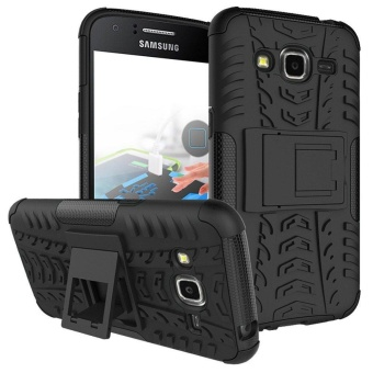 Hybrid Rugged Armor Hard Back Cover Case with Kickstand for Samsung Galaxy J2 2015 J200 - intl