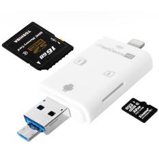 i-flash Drive eksternal mikro SD TF/SD pembaca kartu memori penyimpanan untuk iPhone 5S 6 6s SE 7 7Plus Samsung Android aplikasi gratis iflashdevice - International