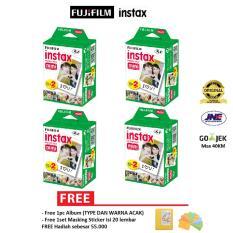 [Instax Studio] Fujifilm Refill Instax Mini Film Plain - 80 Lembar Twinpack + Free Masking Sticker & Album