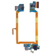 IPartsBuy USB Charging Connector Port Flex Cable And Earphone Audio Jack Flex Cable And Microphone Flex Cable Replacement For LG G2 / VS980
