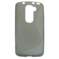Jalur S Yang Fleksibel Untuk Kasus Pelindung TPU LG G2 Mini D620 (Kelabu)