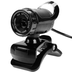 JinGle USB HD Webcam Camera Built-in MIC Clip On For Computer PC Laptop (Black)