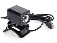 GE USB 2.0 5.0 Mega Pixels 4 LED HD Webcam Web Cam Camera For Laptop Computer (Intl)