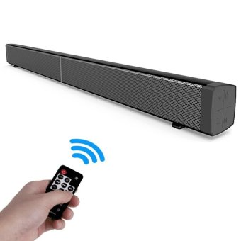 JUSHENG Wireless Bluetooth Sound Bar Channel 2.0 TV Super LongSoudbar Built-in Subwoofer, 40W Stereo Bluetooth Speaker withBuilt-in Microphone for iPhone iPad Android (Black) - intl